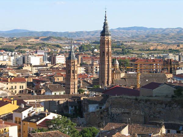 Torres de la Colegiata de Santa María, en Calatayud