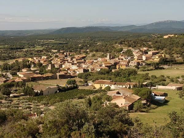 Vista panorámica de Cantallops, en Girona