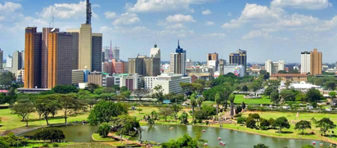La ciudad de Nairobi, en Kenia