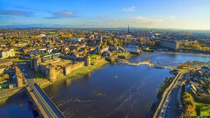 Vista panorámica de Limerick, en Irlanda