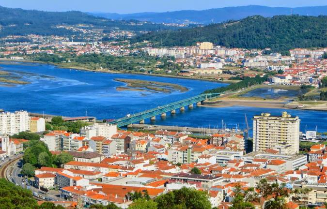 Panorámica de Viana do Castelo, en Portugal