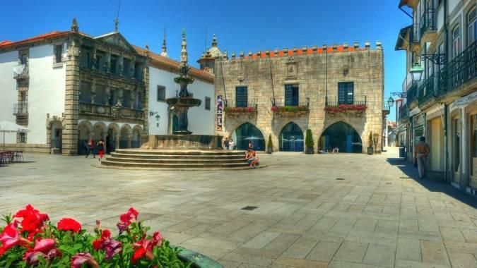Plaza de la República, en Viana do Castelo, Portugal