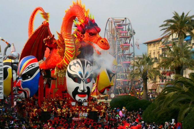 Carnaval de Viareggio, en Italia