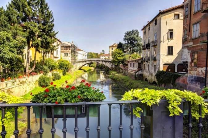 La elegante ciudad italiana de Vicenza