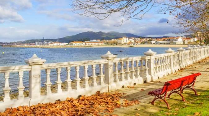 El pueblo costero de Villagarcía de Arosa, en Pontevedra