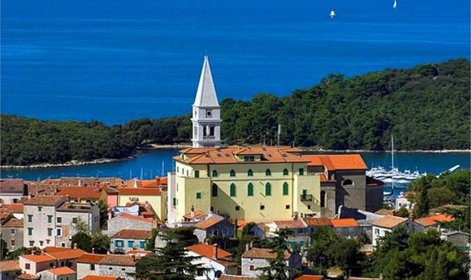 La Basílica de Santa María del Mar, en Vrsar, Croacia