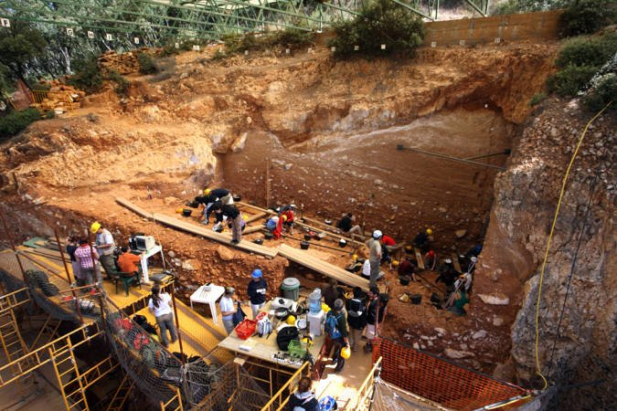 """Yacimiento de la """"Gran Dolina"""", en Atapuerca, Burgos"""